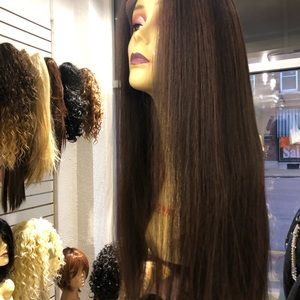 Accessories - Alopecia Hairloss Wig Fulllace Brown highlights
